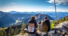 panorama, alpejski dobry widok